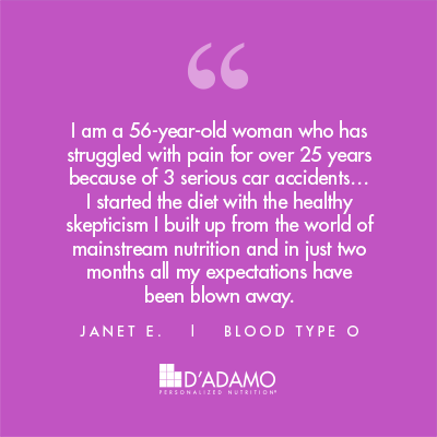 Janet E. - Blood Type Diet Success Story