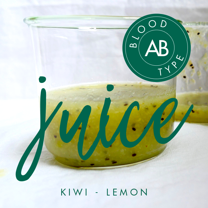BLOOD TYPE AB | Kiwi Lemon Juice