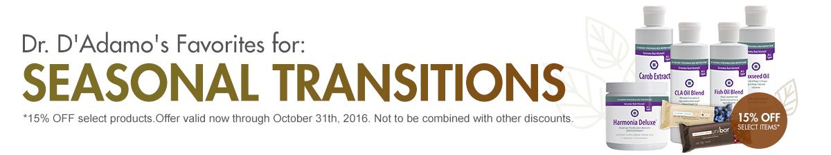 Dr. D'Adamo's Favorites for: Seasonal Transitions