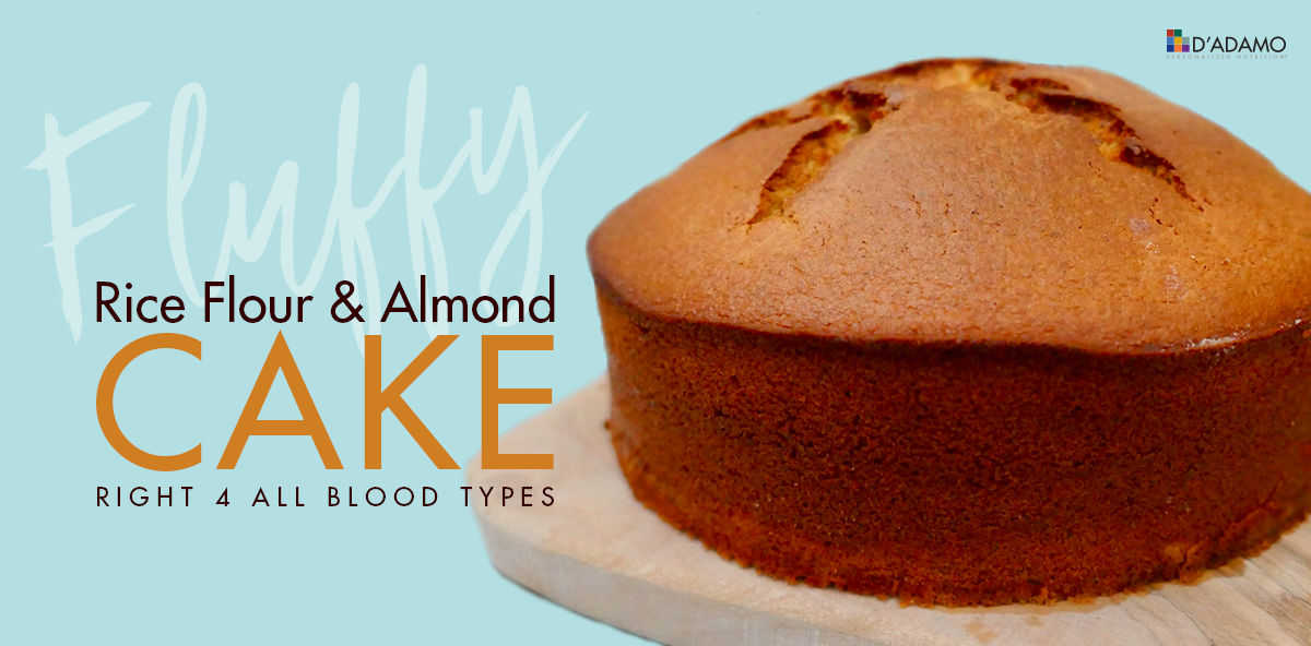 Fluffy Rice Flour & Almond Cake - Right 4 All Blood Types