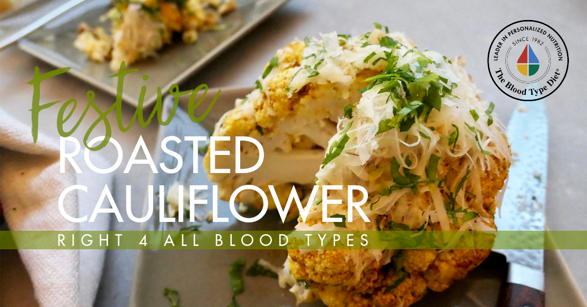 Festive Roasted Cauliflower - Right 4 All Types