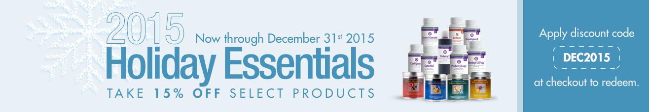 15% OFF - 2015 Holiday Essentials