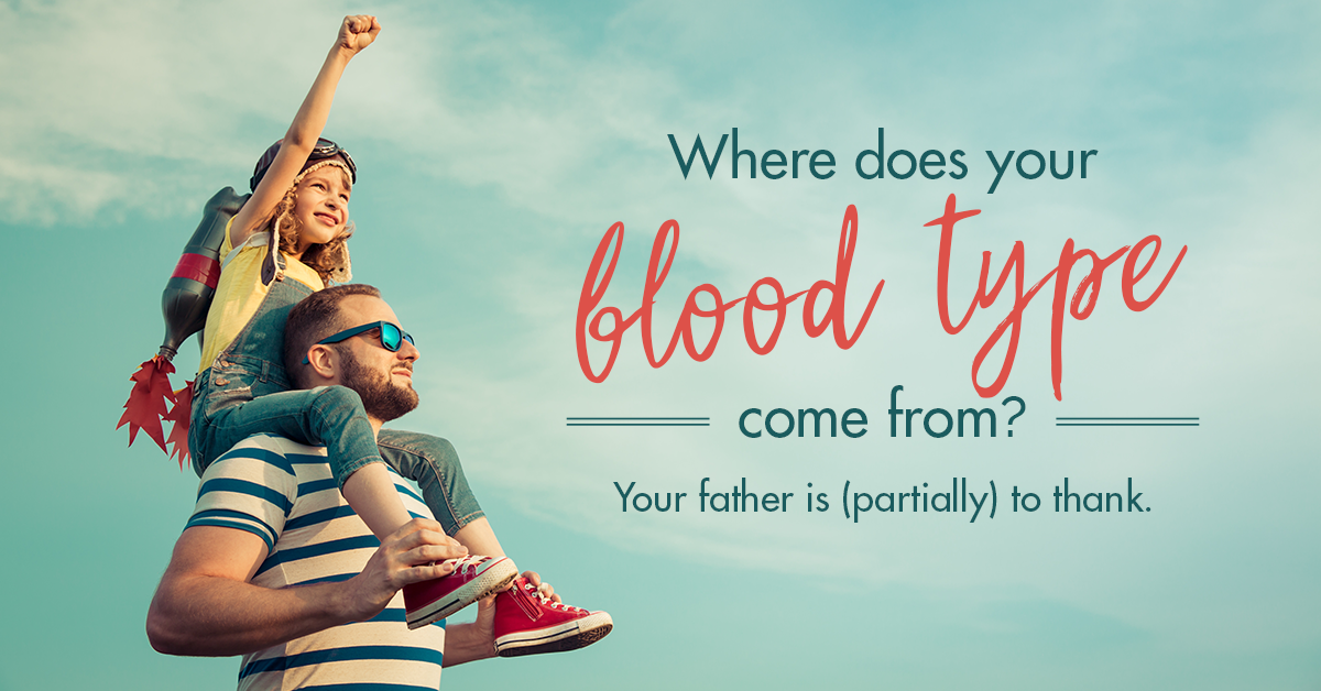 Where does your blood type come from?