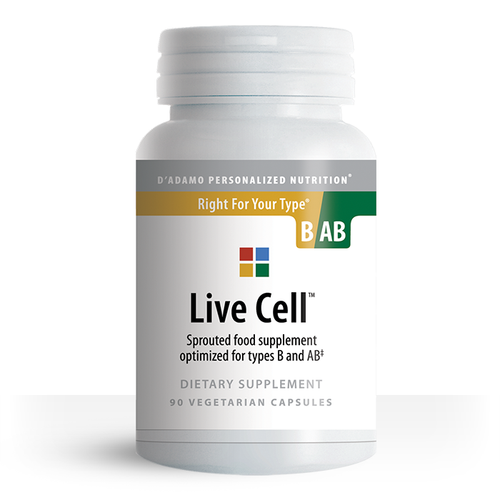 Sprouted greens vegetable supplement for Type B/AB - Live Cell B/AB