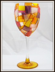 Hand-painted Autumn Goblet