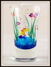 Hand-painted Fish Shot