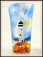 Hand-painted Lighthouse Shot
