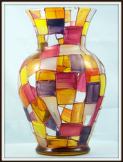Hand-painted Autumn Urn Vase