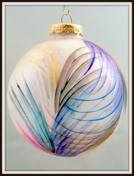 Hand-painted Fan Ornament