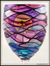 Hand-painted Sunset Goblet - magnified rear view