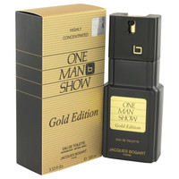 One Man Show Gold By Jacques Bogart 3.3 oz Eau De Toilette Spray for Men