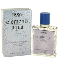 Aqua Elefor Ments By Hugo Boss 3.4 oz Eau De Toilette Spray for Men