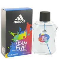 Team Five By Adidas 3.4 oz Eau De Toilette Spray for Men
