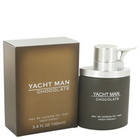 Yacht Man Chocolate By Myrurgia 3.4 oz Eau De Toilette Spray for Men