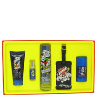 Love & Luck By Christian Audigier Gift Set with Luiggage Tag