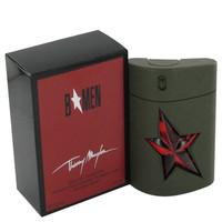B Men by Thierry Mugler 3.4 oz Eau De Toilette Spray Refillable Rubber Flask for Men