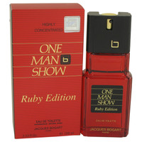 One Man Show Ruby By Jacques Bogart 3.3 oz Eau De Toilette Spray Tester for Men
