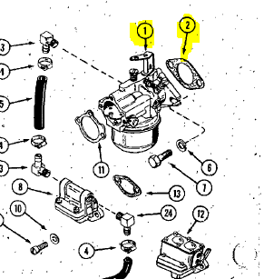 PL 7-01211 } KIT: CARBURETOR