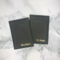 Mr & Mrs Personalised Passport Covers