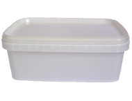 Rectangular Clear 1.25ltr container & Lid