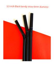 Black Bendy Straws