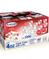Satco 4oz Cups with Lids