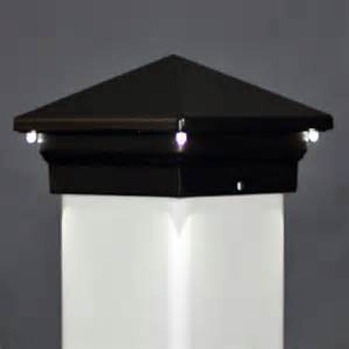 LED Post Cap / Eclipse / Black