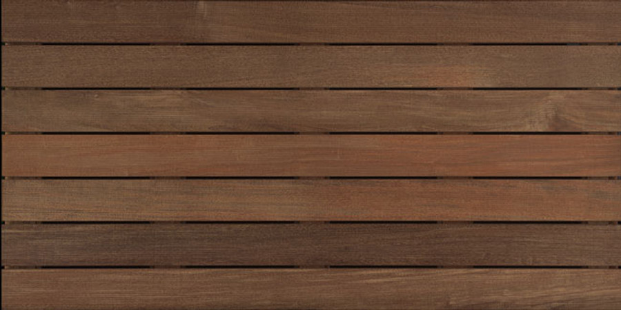Bison ipe wood deck tiles installs in a breeze for Smooth hardwood decking boards