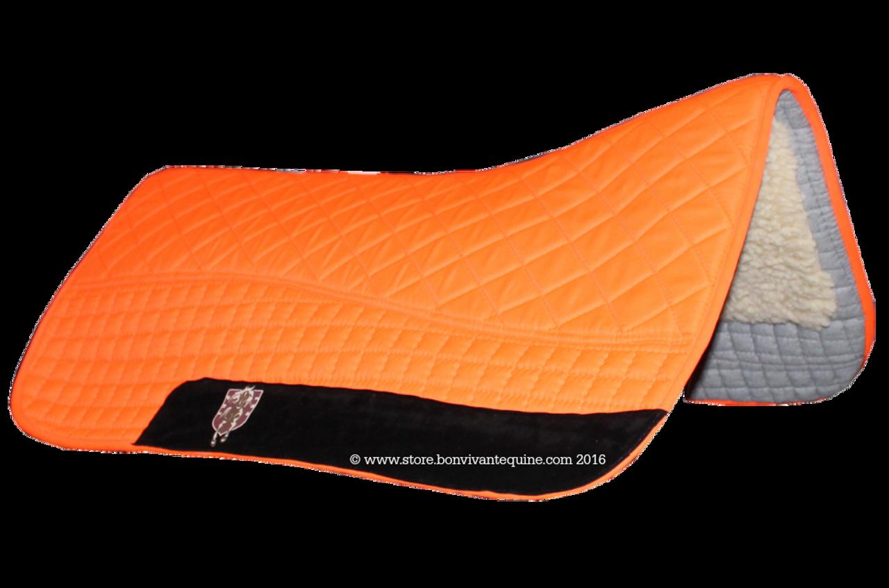 neon hunter safety blaze orange western saddle pad pri doubleback saddle blankets