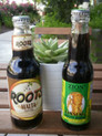 "Roots Malta drink from Jamaica (left) - the closest thing to ""rot gut"" in a non-alcoholic beverage."