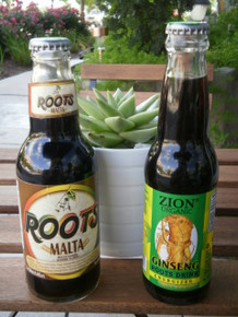 Zion Organic Ginseng beverage (right) - a smooth and pleasantly unique energizer drink.