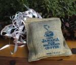 Jamaica Blue Mountain Coffee in 4 oz. burlap pouchette - a nice wedding ceremony gift