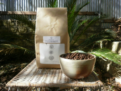Peaberry Jamaica Blue Mountain Coffee in 2 lb. biotre bag.
