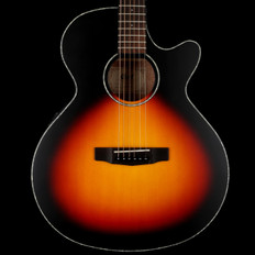 Cort SFXE3TS Electro Acoustic Guitar with Venetian Cutaway in 3-Tone Satin Sunburst