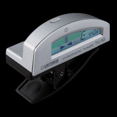 Boss TU-10 Clip On Chromatic Tuner in Silver