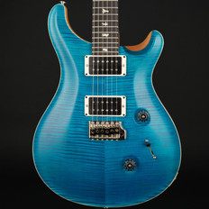 PRS Custom 24 10 Top in Peacock Blue Satin Nitro with Pattern Thin Neck, 85/15 Pickups #237384