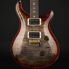 PRS Custom 24 10 Top in Burnt Maple Leaf with Stained Flame Maple Neck, 85/15 Pickups #246633