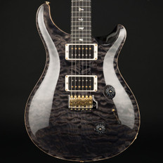PRS Custom 24 10 Top Quilt in Grey Black with Pattern Thin Neck, 85/15 Pickups #244609