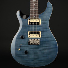PRS SE Custom 24 Left-Handed in Whale Blue with Gig Bag