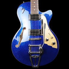 Duesenberg Starplayer TV in Blue Sparkle with Hard Case