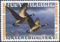 West Virginia Duck Stamp 1987 Canada Geese Resident