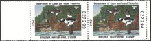 Virginia Duck Stamp 1992 Buffleheads Hunter pair, selvage on both sides
