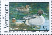 Vermont Duck Stamp 1997 Pintails