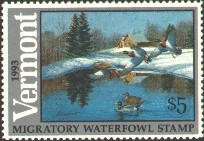 Vermont Duck Stamp 1993 Mallards