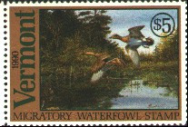 Vermont Duck Stamp 1990 Green - Winged Teal