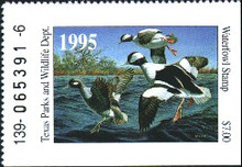 Texas Duck Stamp 1995 Buffleheads