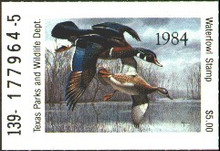 Texas Duck Stamp 1984 Wood Ducks