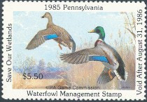 Pennsylvania Duck Stamp 1985 Mallards