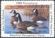 Pennsylvania Duck Stamp 1984 Canada Geese