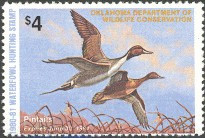 Oklahoma Duck Stamp 1980 Pintails